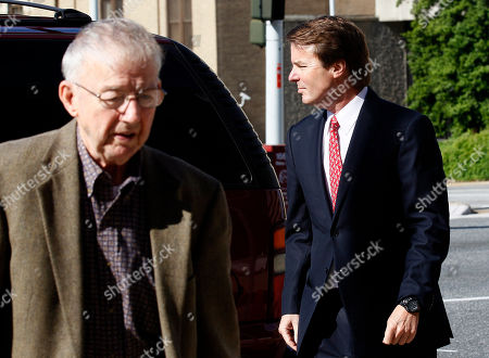 John Edwards, Wallace Edwards Former presidential candidate and Sen. John Edwards, right, and his father Wallace Edwards arrive at a federal courthouse in Greensboro, N.C., . Edwards is accused of conspiring to secretly obtain more than $900,000 from two wealthy supporters to hide his extramarital affair with Rielle Hunter and her pregnancy. He has pleaded not guilty to six charges related to violations of campaign-finance laws