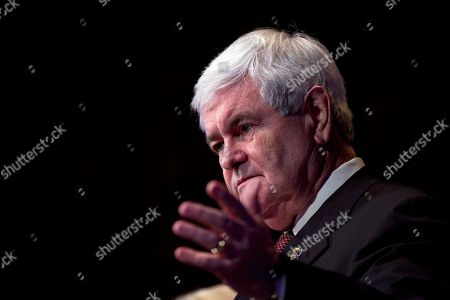 Newt Gingrich Republican presidential candidate, former House Speaker Newt Gingrich speaks during a campaign stop at the Bing Crosby Theatre in Spokane, Wash