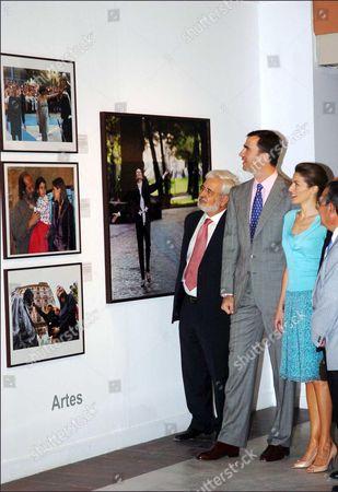 President of Asturias, Vicente Alvarez Areces with Prince Felipe and Letizia Ortiz