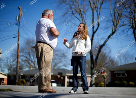 Volunteer Beth Avery, of Gambrills, Md., speaks with Dan Wilson while campaigning for Republican presidential candidate Sen. Ted Cruz, R-Texas, in Greenville, S.C. For months, Cruz's campaign has touted an expensive and sophisticated get-out-the-vote operation as its antidote to Donald Trump's broad populist appeal. It worked in Iowa. But Saturday's South Carolina primary will be a tougher test for him. And it could shape the race between the anti-establishment rivals as the GOP contest heads toward delegate-rich March voting states