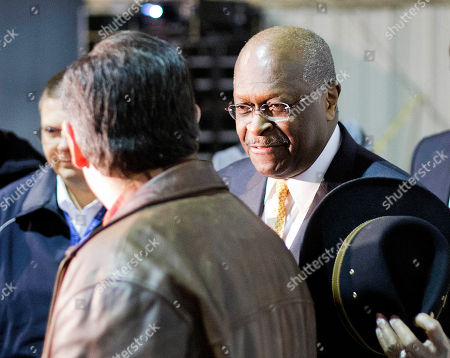 Ted Cruz, Herman Cain Former Republican presidential candidate Herman Cain, right, talks with Republican presidential candidate, Sen. Ted Cruz, R-Texas, after introducing him at a campaign event, in Kennesaw, Ga