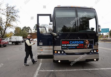 Matthew Posey Matthew Posey, the national field manager for Ben Carson's presidential campaign, texts while walking into the Carson campaign bus, a day before Carson is to participate in the CNBC Republican presidential debate in Boulder, Colo