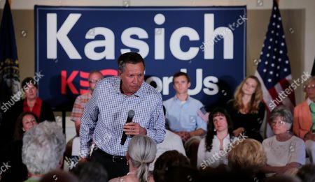 John Kasich Republican presidential candidate, Ohio Gov. John Kasich during a town hall style gathering during a campaign stop in Greenland, N.H