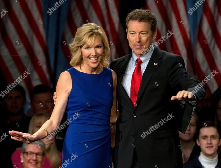 Rand Paul, Kelley Ashby Sen. Rand Paul, R-Ky., joined by his wife Kelley Ashby, arrives to announce the start of his presidential campaign, at the Galt House Hotel in Louisville, Ky