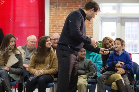 Marco Rubio, Amanda Rubio, Daniella Rubio, Anthony Rubio, Jeanette Dousdebes, Dominic Rubio Republican presidential candidate, Sen. Marco Rubio, R-Fla., lets his son Dominic Rubio, 8, answer after suggesting that he might one day run for office as Rubio speaks at the Maytag Innovation Center in Newton, Iowa, . Also pictured from left, Amanda Rubio, 15, Daniella Rubio, 13, Anthony Rubio, 10, Marco Rubio's wife Jeanette Dousdebes