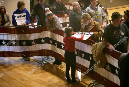 Donald Trump Kai Madison Trump, granddaughter of Republican presidential candidate Donald Trump, signs an autograph during a campaign rally at the Veterans Memorial Building, in Cedar Rapids, Iowa