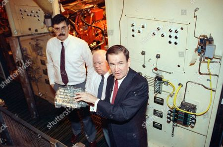 Patrick Buchanan Republican presidential hopeful Patrick Buchanan, right, looks at parts manufactured at the Kingsbury Tool and Die, in Keene, New Hampshire on with Jim Stewart, left, and Jin O?Neil, center. Buchanan spent the day campaigning in New Hampshire and speaking about the importance of American made products