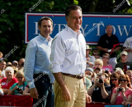 Mitt Romney Former Minnesota Gov. Tim Pawlenty, left, stands with Republican presidential candidate, former Massachusetts Gov. Mitt Romney during a campaign stop at campaign stop at Cornwall Iron Furnace on in Cornwall, Penn