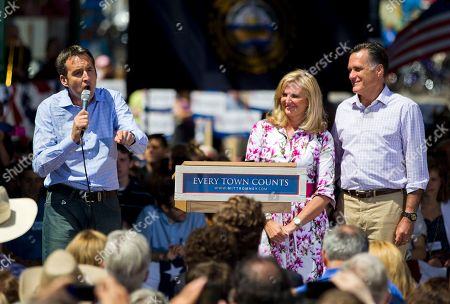 Mitt Romney, Tim Pawlenty, Ann Romney Former Minnesota Gov. Tim Pawlenty, left, introduces Republican presidential candidate, former Massachusetts Gov. Mitt Romney, right, and his wife Ann, during a campaign stop on in Milford, N.H