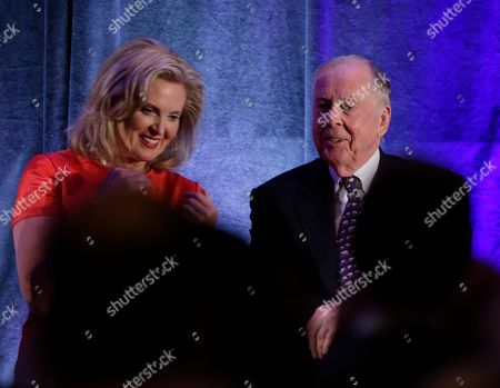 Ann Romney, T. Boone Pickens Ann Romney is seated with businessman T. Boone Pickens as Republican presidential candidate Mitt Romney, not pictured, speaks on stage at a campaign fundraising event in Dallas