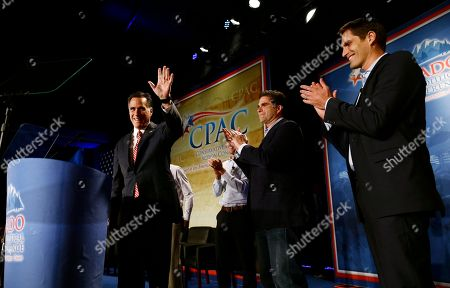 Mitt Romney, Craig Romney, Tagg Romney, Josh Romney Republican presidential candidate, former Massachusetts Gov. Mitt Romney speaks at a Colorado Conservative Political Action Committee (CPAC) meeting in Denver, . At rear are sons Craig, Tagg, and Josh Romney