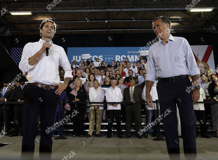 Mitt Romney, Craig Romney Republican presidential candidate and former Massachusetts Gov. Mitt Romney campaigns with son Craig Romney at a rally at Darwin Fuchs Pavilion in Miami