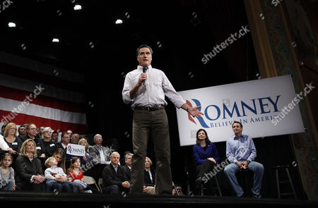 Mitt Romney, Ann Romney, Tim Pawlenty, Kelly Ayotte Republican presidential candidate, former Massachusetts Gov. Mitt Romney, campaigns at the Rochester Opera House in Rochester, N.H., . Pictured on stage are former Minnesota Gov. Tim Pawlenty, right, Sen. Kelly Ayotte, R-N.H., second right, and wife Ann Romney