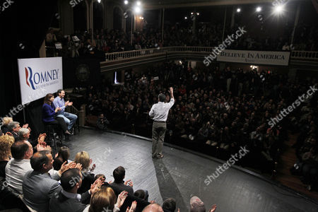 Mitt Romney, Kelly Ayotte, Tim Pawlenty Republican presidential candidate, former Massachusetts Gov. Mitt Romney, campaigns at the Rochester Opera House in Rochester, N.H., . Also seated on stage are former Minnesota Gov. Tim Pawlenty, left, and Sen. Kelly Ayotte, R-N.H. second left