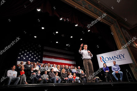 Mitt Romney, Tim Pawlenty, Kelly Ayotte Republican presidential candidate, former Massachusetts Gov. Mitt Romney, campaigns at the Rochester Opera House in Rochester, N.H., . Also on stage are former Minnesota Gov. Tim Pawlenty, right, and Sen. Kelly Ayotte, R-N.H