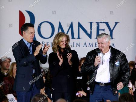 Mitt Romney, Bobby Allison, Ann Romney NASCAR legend Bobby Allison campaigns for Republican presidential candidate, former Massachusetts Gov. Mitt Romney, as his wife Ann Romney is seen at center at American Legion Post 15 in Sumter, S.C