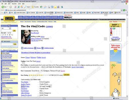 IMDB Web Site