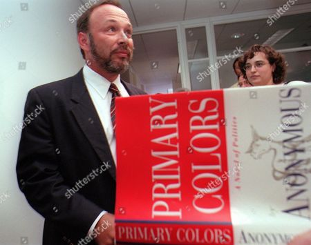 """JOE KLEIN Joe Klein, senior editor at Newsweek, enters a news conference at Random House Publishers in New York, where he confessed to being the author of""""Primary Colors,"""" a best-selling satire of the Clinton 1992 presidential campaign. Klein said he decided to offer the book to publishers anonymously because he had never written fiction before and wasn't sure if it was any good"""