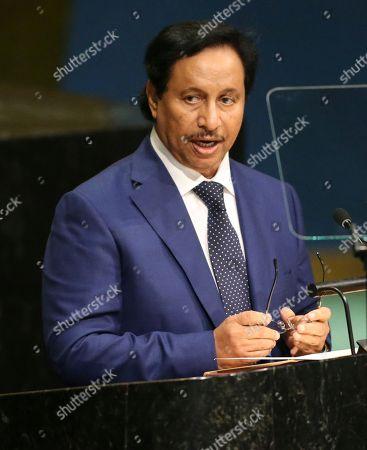 Sheikh Jaber Al-Mubarak Al-Hamad Al Sabah Sheikh Jaber Al-Mubarak Al-Hamad Al Sabah, Prime Minister of Kuwait, speaks during the 71st session of the United Nations General Assembly at U.N. headquarters