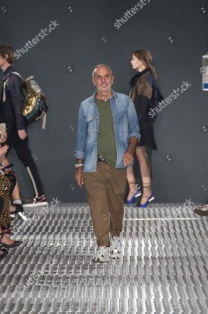 Stock Image of Alessandro Dell Acqua on the catwalk