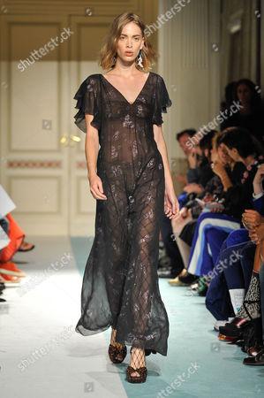 Editorial image of Kristina Ti show, Runway, Spring Summer 2017, Milan Fashion Week, Italy - 21 Sep 2016