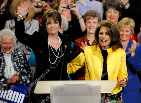 Michele Bachmann, Sarah Palin Sarah Palin, left, waves to a rally crowd in Minneapolis with Minnesota Rep. Michele Bachmann, right. Bachmann's Chief of Staff Andy Parrish told The Associated Press, that she has not ruled out a presidential bid _ but wouldn't say when she will decide. But he says Bachmann won't be affected by the decisions of fellow Minnesota Republican Tim Pawlenty or former Alaska Gov. Sarah Palin
