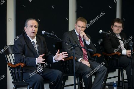 Warren Davidson, Corey Foister, Jim Condit Jr Green Party candidate Jim Condit Jr., left, speaks alongside Republican candidate Warren Davidson, center, and Democratic candidate Corey Foister, right, during a forum for candidates running in the 8th District special election at the Miami University Hamilton Downtown Center in Hamilton, Ohio. The stakes are high even if attention and interest are low in a special election Tuesday, June 7 to elect the successor to former House Speaker John Boehner