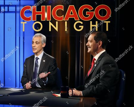 "Stock Photo of Rahm Emanuel, Jesus Garcia Chicago Mayor Rahm Emanuel, left, and challenger, Cook County Commissioner Jesus ""Chuy"" Garcia, appear during a televised mayoral debate in Chicago. Emanuel's predecessor, Richard M. Daley, barely broke a sweat during most of his campaigns over more than 20 years in office. But Emanuel failed to win a majority in a five-candidate field in February, prompting the first mayoral runoff since Chicago switched to nonpartisan elections two decades ago. With a runoff election between Emanuel and Garcia set for, Chicago voters are being treated to something they haven't seen in a long time: a mayor actually having to work to win re-election"