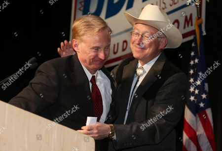 Don Quick, Ken Salazar Former Colorado Attorney General Ken Salazar, right, congratulates Don Quick after he accepted his party's nomination to run for the office of attorney general in the November 2014 general election, during the Colorado Democratic Party's State Assembly in Denver. Colorado will have a new attorney general for the first time in nearly a decade, with voters deciding between Democrat Don Quick, a former district attorney, and Republican Cynthia Coffman, who is the current deputy attorney general