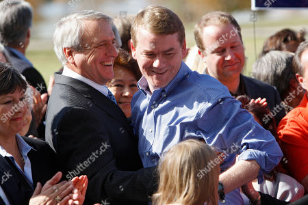 Michael Bennet, Bill Ritter Sen. Michael Bennet, D-Colo., right is congratulated by Colorado Gov. Bill Ritter, left, at Denver's City Park, where Bennet delivered his victory speech for Tuesday's election