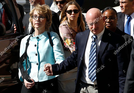 Gabrielle Giffords, Mark Kelly Former Democratic Rep. Gabrielle Giffords, left, and her husband Mark Kelly leave after the sentencing of Jared Loughner, in back of U.S. District Court, in Tucson, Ariz. U.S. District Judge Larry Burns sentenced Jared Lee Loughner, 24, to life in prison, for the January 2011 attack that left six people dead and Giffords and others wounded. Loughner pleaded guilty to federal charges under an agreement that guarantees he will spend the rest of his life in prison without the possibility of parole