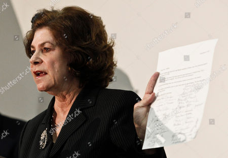 Stock Photo of Barbara LaWall Pima County Attorney Barbara LaWall holds up a letter signed by all the shooting victims and family members of those shot and killed, asking the attorney not to pursue further state charges against Jared Loughner, which she announced she would not pursue, after the sentencing of Loughner, at U.S. District Court, in Tucson, Ariz. U.S. District Judge Larry Burns sentenced 24-year-old Jared Lee Loughner on Thursday for the January 2011 attack that left six people dead and Giffords and others wounded