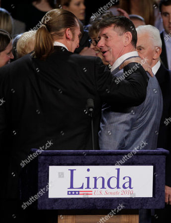"""Linda McMahon Vince McMahon Paul Levesque Vince McMahon, husband of Connecticut Republican U.S. Senate candidate Linda McMahon, right, talks with his son-in-law Paul Levesque, formerly the wrestler """"HHH"""", during her election night party in Hartford, . Richard Blumenthal, Connecticut's longtime Democratic attorney general, won the state's hotly contested U.S. Senate race"""