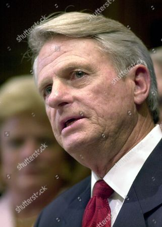 MILLER Former Georgia Gov. Zell Miller, D-Ga., speaks at a news conference, in Atlanta, where Gov. Roy Barnes announced Miller would temporarily fill the Senate seat left open by the death of Sen. Paul Coverdell. Miller said he will run in the November general election to fill the remaining four years of Coverdell's term