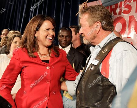 Christine O'Donnell, Russ Murphy Republican Senate candidate Christine O'Donnell, left, talks with Russ Murphy, executive director of the 9-12 Delaware Patriots after she won the Republican nomination for Senate in Delaware, in Dover, Del. O'Donnell upset Rep. Mike Castle for the seat