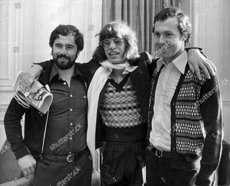 GERD MULLER, MICK JAGGER AND FRANZ BECKENBAUER