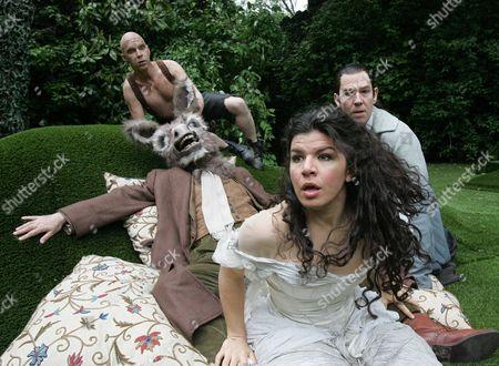 'A Midsummers Night's Dream' - Gerard Carey ( Puck ) John Hodgkinson ( Bottom ) Sirine Saba ( Titania ) Steven Pacey ( Oberon )