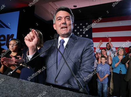 Cory Gardner Senator-elect, U.S. Rep. Cory Gardner, (R-Colo.), delivers his victory speech to supporters during a GOP election night gathering at the Hyatt Regency Denver Tech Center, in Denver, Colo., . Gardner defeated his Democratic opponent, incumbent Sen. Mark Udall