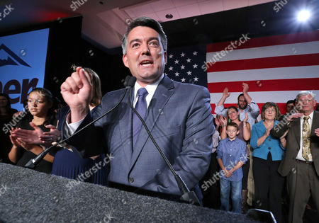 Cory Gardner Senator-elect, U.S. Rep. Cory Gardner, (R-Colo.), delivers his victory speech to supporters during the GOP election night gathering at the Hyatt Regency Denver Tech Center, in Denver, Colo., on Election Day, . Gardner beat his Democratic opponent, incumbent Sen. Mark Udall