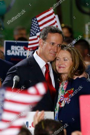 Editorial picture of GOP 2016 Santorum, Cabot, USA