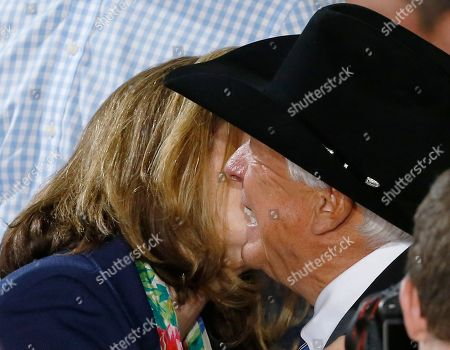Foster Friess, Karen Santorum Businessman Foster Friess, right, embraces Karen Santorum after her husband, former U.S. Sen. Rick Santorum announced his candidacy for the Republican nomination for President of the United States in the 2016election on in Cabot, Pa