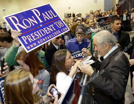 Ron Paul Former Congressman Ron Paul, right, greets supporters during a rally for Republican gubernatorial candidate Ken Cuccinelli in Richmond, Va., . Cuccinelli faces Democrat Terry McAuliffe in Tuesday's election
