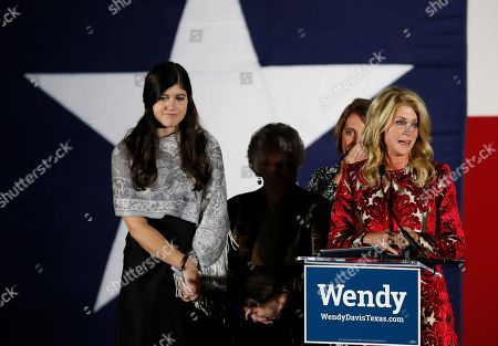 Wendy Davis, Election Texas Democratic gubernatorial candidate Wendy Davis becomes emotional as she speaks about supporters she met on the campaign trail while making her concession speech at her election watch party, in Fort Worth, Texas
