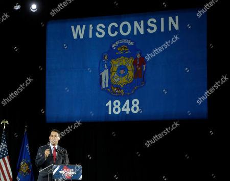 Scott Walker, Election Wisconsin Republican Gov. Scott Walker speaks at his campaign party, in West Allis, Wis. Walker defeated Democratic gubernatorial challenger Mary Burke