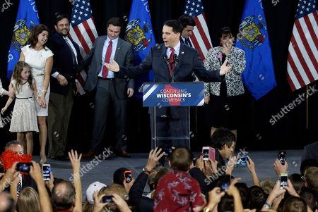 Scott Walker Wisconsin Republican Gov. Scott Walker speaks at his campaign party, in West Allis, Wis. Walker defeated Democratic gubernatorial challenger Mary Burke