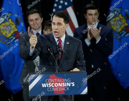 Editorial picture of Governor Wisconsin, West Allis, USA
