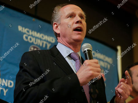 Dan Donovan Staten Island District Attorney Dan Donovan thanks supporters while giving an acceptance speech during an election night gathering, in the Staten Island borough of New York. Through a special election held Tuesday Donovan won the 11th Congressional District seat vacated in January by former Congressman Michael Grimm, who resigned after pleading guilty to one count of federal tax evasion