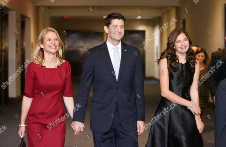 Paul Ryan, Janna Ryan, Liza Ryan New House Speaker Paul Ryan of Wis., walks with his wife Janna, left, and daughter Liza, on their way to a reception with 2012 Republican presidential candidate Mitt Romney, on Capitol Hill in Washington. Ryan was Romney's vice presidential running mate during the 2012 election