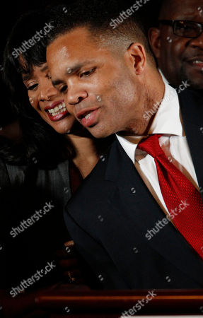 Jesse Jackson Jr., Sandi Jackson U.S. Rep. Jesse Jackson Jr., D-Ill., and his wife Chicago Alderman Sandi Jackson, thank family members at the foot of the stage at his election night party, in Chicago after his Democratic primary win over challenger, former Rep. Debbie Halvorson, in the Illinois' 2nd District