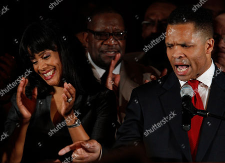 Jesse Jackson Jr., Sandi Jackson U.S. Rep. Jesse Jackson Jr., D-Ill., and his wife Chicago Alderman Sandi Jackson, thank family members at his election night party, in Chicago after his Democratic primary win over challenger, former Rep. Debbie Halvorson, in the Illinois' 2nd District